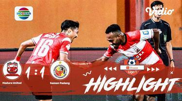 Pertandingan #ShopeeLiga1, antara #MaduraUnitedFC VS #SemenPadangFC yang berlangsung di Stadion Gelora Madura Ratu Pamelingan Stad...