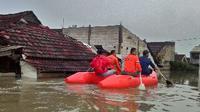 Banjir di Perumahan Persada Tangerang (Liputan6.com/Naomi Trisna)