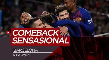 Berita video Barcelona kembali melakukan comeback sensasional dan kali ini korbannya adalah Sevilla pada ajang Copa del Rey 2018-2019, Rabu (30/1/2019).