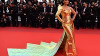 Aishwarya Rai di Cannes Film Festival. (Alberto PIZZOLI / AFP)