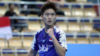 Tunggal putra Indonesia Yonathan Ramlie menyingkirkan unggulan tiga Liu Liang untuk mencapai perempat final. (PBSI)