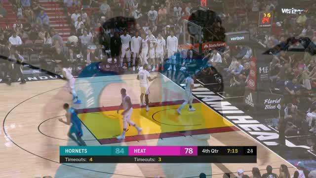 Berita video game recap NBA 2017-2018 antara Miami Heat melawan Charlotte Hornets dengan skor 95-91.