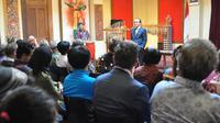 Duta Besar RI untuk Selandia Baru Tantowi Yahya saat membuka acara Angklung Workshop di KBRI Wellington, Selandia Baru pada 1 Maret 2018 (sumber: KBRI Wellington)