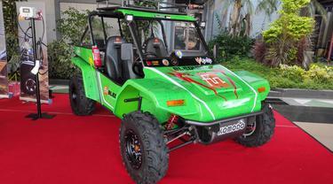 Fin Komodo Bawa Mobil Listrik Setrum Kemayoran (Arief A/Liputan6.com)