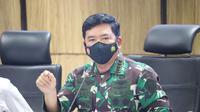 Panglima TNI Marsekal TNI Hadi Tjahjanto, S.I.P. didampingi Kapolri Jenderal Pol Drs. Listyo Sigit Prabowo, M.Si. saat memimpin Rapat terkait penanganan Covid-19. (Foto:Istimewa)