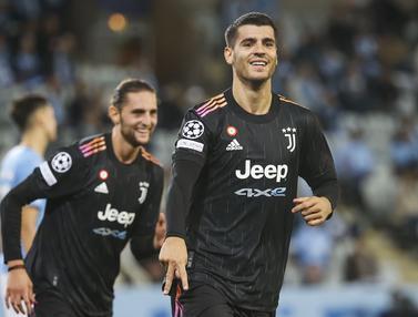 Foto: Juventus Gasak Tuan Rumah Malmo 3-0 di Matchday Pertama Liga Champions 2021 / 2022