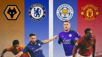 Premier League - Olivier Giroud Vs Raul Jimenez dan Anthony Martial Vs Jamie Vardy (Bola.com/Adreanus Titus)