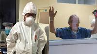 Kondisi dr. Handoko, dokter berusia 80 tahun yang turut urus pasien Corona, kian membaik. (Sumber: Facebook/Hengky)
