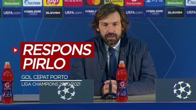 Berita video respons Pelatih Juventus, Andrea Pirlo, soal gol cepat yang dicetak Porto ke gawang timnya pada leg I babak 16 Besar Liga Champions 2020/2021, Kamis (18/2/2021) dinihari WIB.
