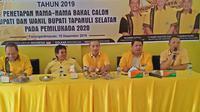 Penetapan nama-nama tersebut sesuai hasil rapat pleno Partai Golkar Tapsel diperluas