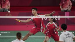 Pertandingan di Olimpiade Tokyo 2020 antara pasangan Paveen/Melati dan Watanabe/Higashino merupakan peretemuan kelimanya. Sebelumnya mereka tercatat imbang dengan sama-sama mengantongi dua kemenangan. (Foto: AP/Markus Schreiber)