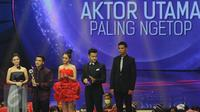 Ricky Harun memberikan sambutan saat meraih penghargaan di SCTV Awards 2015, Jakarta, Sabtu (28/11/2015). Ricky menjadi Pemenang Kategori Nominasi Aktor Utama Paling Ngetop. (Liputan6.com/Helmi Afandi)