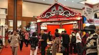Destinasi Indonesia Expo 2019 di Jakarta Convention Center (JCC) 27--29 Juni 2019. (Liputan6.com/Asnida Riani)