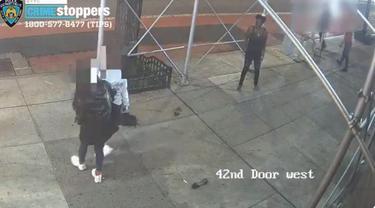 Wanita keturunan Asia diserang dengan palu di New York.