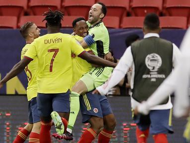 Langkah Timnas Uruguay harus terhenti usai disingkirkan Kolombia pada laga perempat final Copa America 2021. (Foto:AP/Bruna Prado)