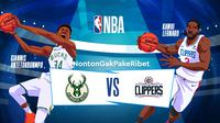 Saksikan Live Streaming NBA 2019 Milwaukee Bucks vs LA Clippers