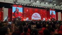 Presiden Jokowi hadir dalam acara Perayaan Imlek Nasional 2020. (Liputan6/Lizsa Egeham)