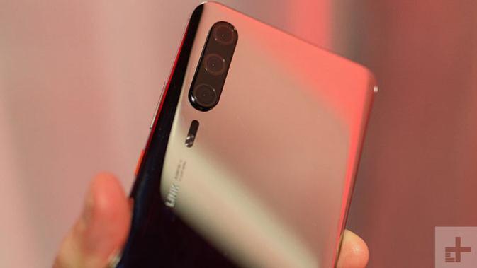 Bocoran bentuk Huawei P30 Pro. (Doc: DigitalTrends)