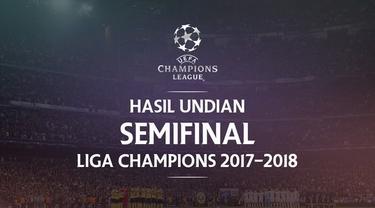 Berita video hasil undian Semifinal Liga Champions 2017-2018. Real Madrid bertemu Bayern Munchen, AS Roma Menantang Liverpool.