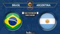 Persahabatan Internasional Brasil Vs Argentina (Bola.com/Adreanus Titus)
