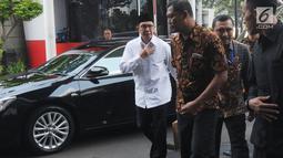 Menteri Agama Lukman Hakim Saifuddin memenuhi panggilan penyidik KPK untuk menjalani pemeriksaan di Jakarta, Rabu (8/5/2019). Lukman diperiksa sebagai saksi kasus dugaan suap seleksi jabatan di lingkungan Kementerian Agama tahun 2018-2019 dengan tersangka Romahurmuziy. (merdeka.com/Dwi Narwoko)