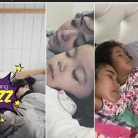 5 foto hangat seleb tidur bareng anaknya.