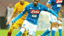 1. Elseid Hysaj – Bek Sayap timnas Albania yang kini tampil apik bersama Napoli. Tak heran Ancelotti mengakui Hysaj adalah salah satu asset terbaiknya saat ini. (AFP/Carlo Hermann)