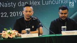 CEO NCIG Indonesia Roy Lefrans berbicara dalam peluncuran  rokok elektrik NCIG oleh Nasty dan Hex di Jakarta, Jumat (22/3). NCIG Indonesia hadir sebagai POD rokok elektrik pertama yang bercukai. (Liputan6.com/HermanZakharia)