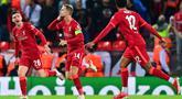 Liverpool berhasil meraih poin penuh di matchday pertama fase grup Liga Cahmpions 2021/2022, setelah berhasil memenangkan persaingan sengit dengan AC Milan. (Foto: AFP/Paul Ellis)