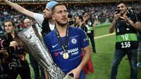Eden Hazard telah resmi hengkang dari Chelsea dan bergabung ke Real Madrid. (AFP/Ozan Kose)