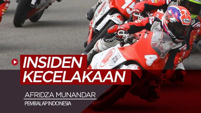 Berita video insiden kecelakaan yang merenggut nyawa pembalap Indonesia, Afridza Munandar, di Sirkuit Sepang, Malaysia, Sabtu (2/11/2019).