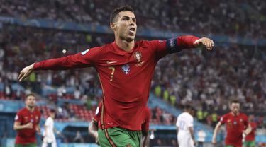Foto Piala Eropa: 5 Fakta Menarik usai Laga Imbang 2-2 Portugal Kontra Prancis di Euro 2020, Termasuk Cristiano Ronaldo Sejajar Ali Daei