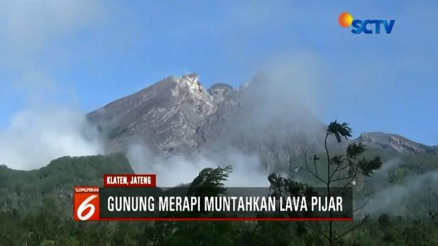 Aktivitas Gunung Merapi pada Senin (17/12) pagi kembali normal setelah sebelumnya luncurkan lava pijar.