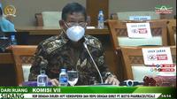 Direktur Jenderal Industri Kimia Farmasi dan Tekstil (IKFT) Kemenperin Muhammad Khayam dalam Rapat Dengar Pendapat dengan Komisi VII, DPR RI, Rabu (15/9/2021).