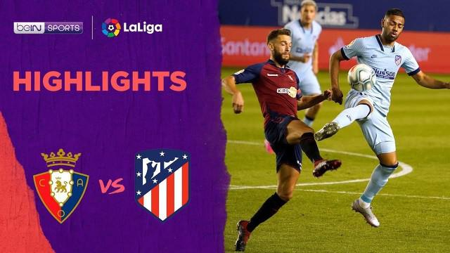 Berita video highlights La Liga 2019-2020 antara Osasuna melawan Atletico Madrid yang berakhir dengan skor 0-5, Kamis (18/6/2020) dini hari WIB.