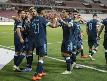 Lautaro Martinez Tampil Apik, Argentina Hajar Peru 2-0 di Kualifikasi Piala Dunia