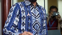 Ketua Umum Partai Demokrat, Agus Harimurti Yudhoyono (AHY) mendatangi kantor DPP Partai Keadilan Sejahtera (PKS), Jakarta Selatan, Jumat (24/7/2020). Kedatangan AHY untuk bersilaturahmi dengan para pengurus partai tersebut. (Liputan6.com/Johan Tallo)