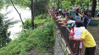 Pemuda Purbalingga hilang di Sungai Klawing usai pesta miras (Liputan6.com / Galoeh Widura)