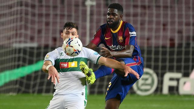 FOTO: Barcelona Kembali ke Posisi 3 usai Tundukkan Elche 3-0 - Lucas Boye; Samuel Umtiti