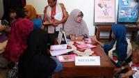 Perwakilan delapan negara Asia dan Afrika menggelar studi banding ke salah satu posyandu di Kecamatan Umbulharjo, Kota Yogyakarta. (Liputan6.com/Switzy Sabandar)
