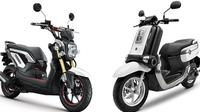 Honda Zoomer (kiri) dan Yamaha Qbix (kanan) (Otosia.com)