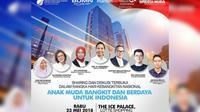 """Dengan tema """"Anak Muda, Bangkit dan Berdaya Untuk Indonesia"""", acara ini menghadirkan narasumber muda inspiratif (Sumber foto: BUMN)"""