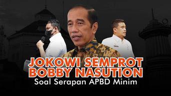 VIDEOGRAFIS: Jokowi Semprot Bobby Nasution Soal Serapan APBD Minim