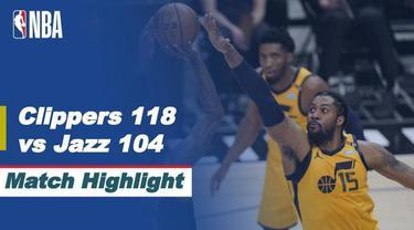 Berita Video, LA Clippers Tahan Imbang Utah Jazz di Game 4 Semifinal NBA Playoffs, Selasa (15/6/2021)