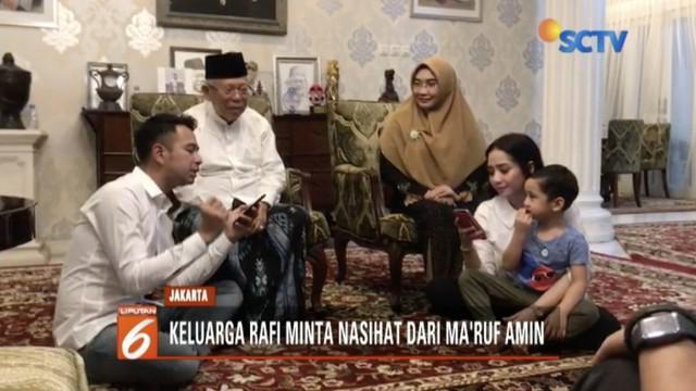 Raffi Ahmad dan Nagita Slavina datangi kediaman Ma'ruf Amin untuk menyatakan dukungan dan meminta nasihat kehidupan rumah tangga.