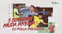 Tiga Bintang Muda Arema di Piala Presiden 2019. (Bola.com/Dody Iryawan)