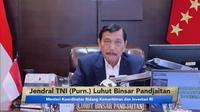 Menteri Koordinator Bidang Kemaritiman dan Investasi Luhut B. Pandjaitan mendorong inovasi dan pemanfaatan teknologi agar Indonesia bisa semakin lebih maju. (Foto: Siaran Pers)