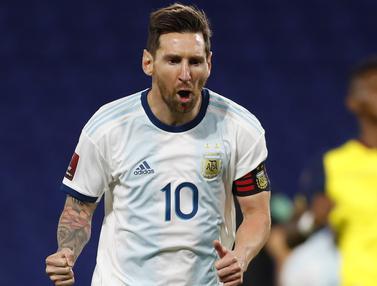 Lionel Messi Bawa Argentina Tundukan Ekuador di Kualifikasi Piala Dunia 2022