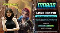 Main bareng Cyberpunk 2077 bersama Larissa Rochefort, Sabtu (2/1/2020) pukul 19.00 WIB dapat disaksikan melalui platform Vidio, laman Bola.com, dan Bola.net. (Dok. Vidio)
