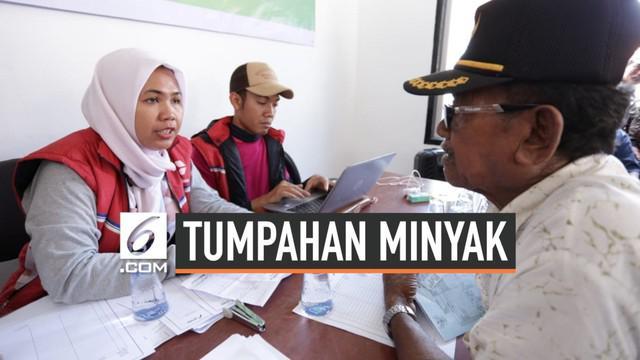 PT Pertamina Hulu Energi berikan kompensasi kepada warga terdampak tumpahan minyak hari Rabu (11/9/2019). Pembayaran kompensasi tahap awal dilakukan di Kabupaten Karawang Jawa Barat.